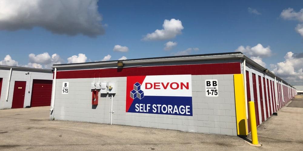 Lots of storage space at Devon Self Storage in Urbana, Illinois