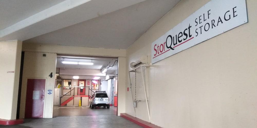 Entrance to StorQuest Self Storage in Honolulu, Hawaii