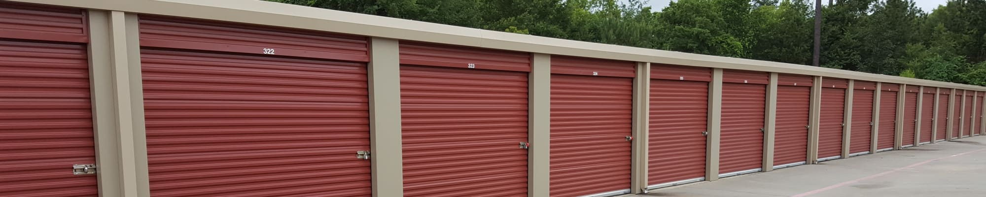 Unit size guide at Lockaway Storage in Texarkana, Texas