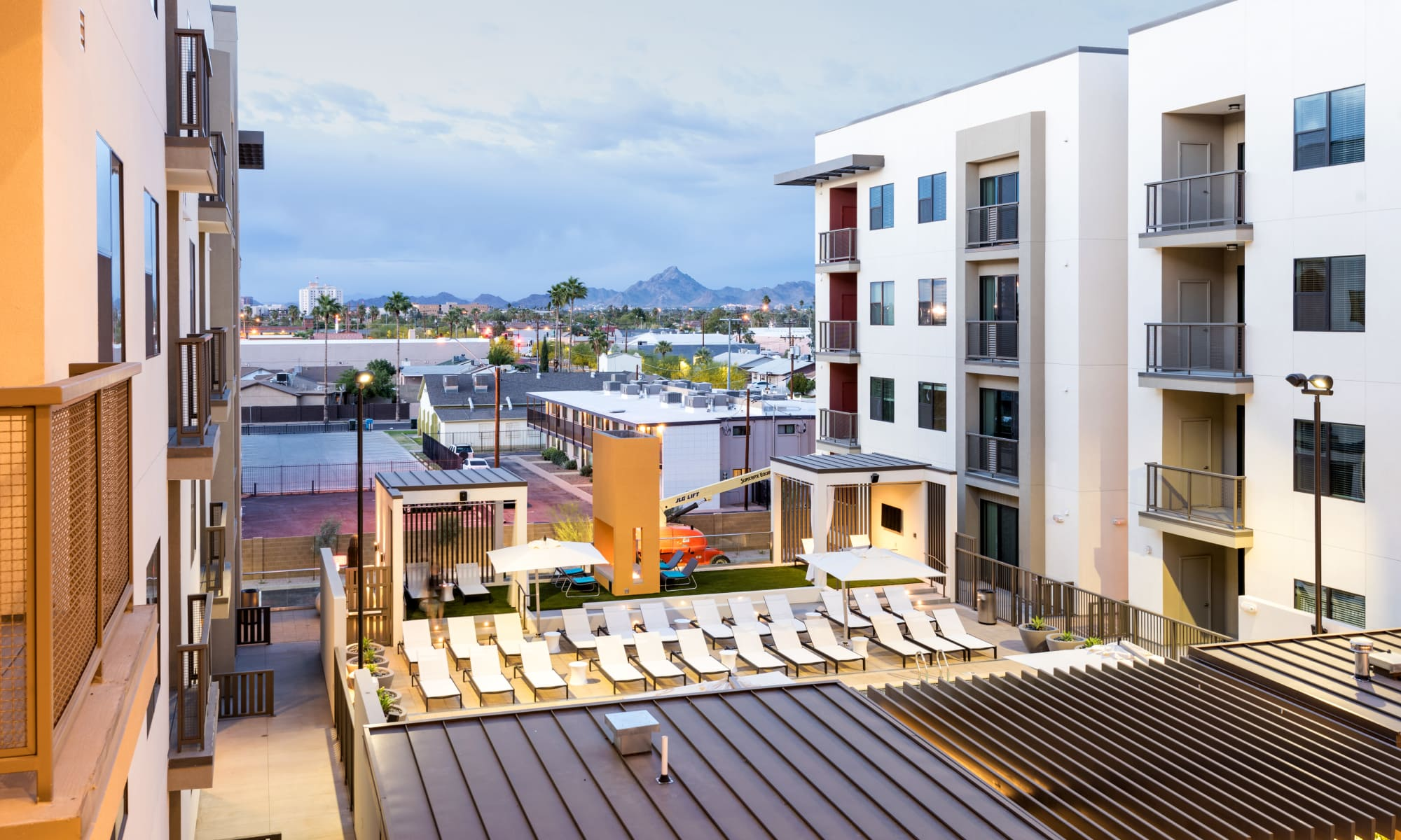 Luxury apartments at Capital Place in Phoenix, Arizona