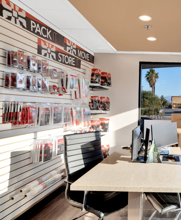 Packing supplies available at StorQuest Self Storage in Bermuda Dunes, California