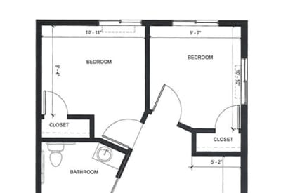 Learn more about our MC Two Bedroom floor plan option at Village at Belmar
