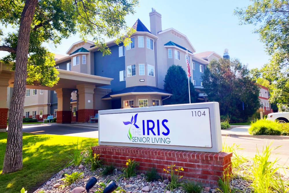 Exterior of building at The Iris Senior Living in Great Falls, Montana
