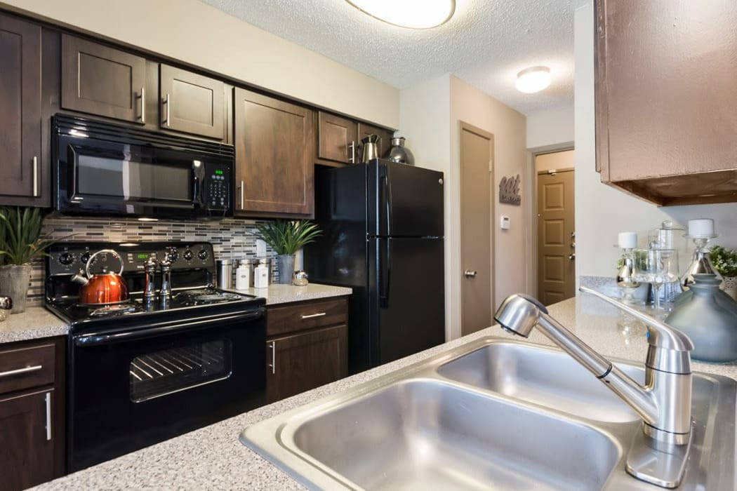 Enjoy a luxury kitchen at Ridgeview Place in Irving, Texas