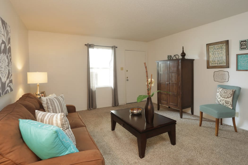 Living room at Double Tree Apartments in El Paso, Texas