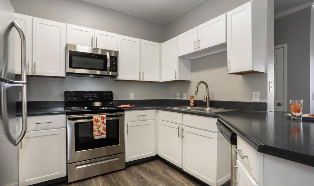 White Renovation Kitchen Hawthorne Hill Apartments