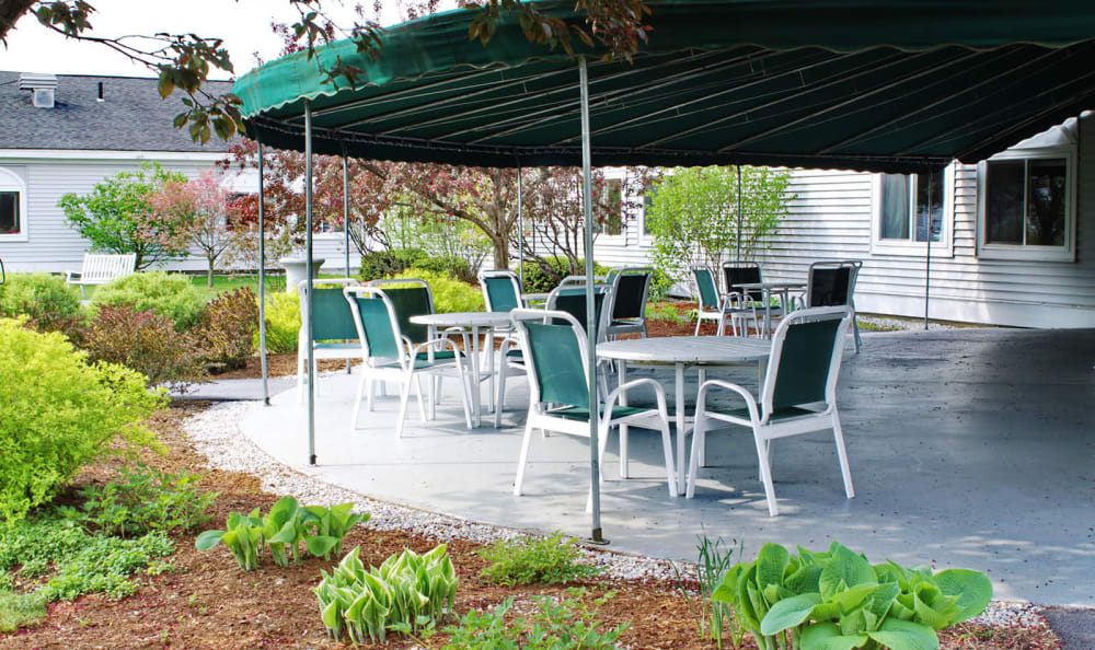 Equinox Terrace in Manchester Center, Vermont, outdoor patio