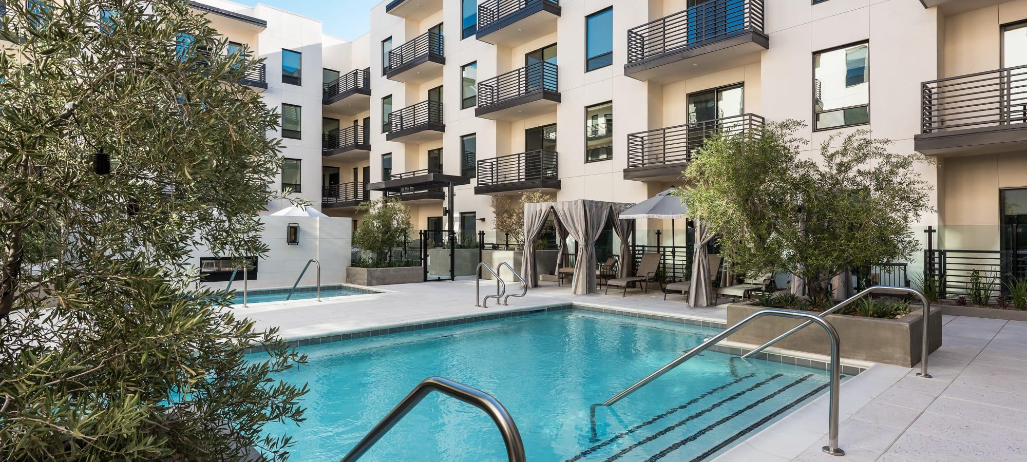 Stunning pool area at Gramercy Scottsdale in Scottsdale, Arizona