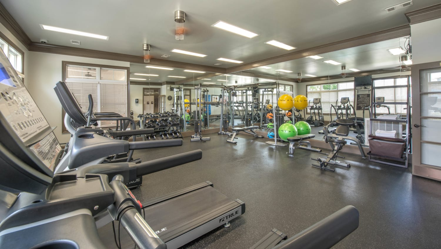 Ample cardio machines in the fitness center at Olympus Hillwood in Murfreesboro, Tennessee