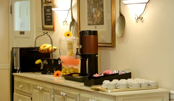 Coffee and snack bar at Azalea Estates of New Iberia in New Iberia, LA.
