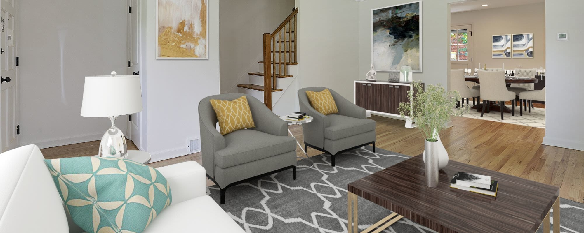 Floor plans at Northfield Townhouses in West Orange, New Jersey