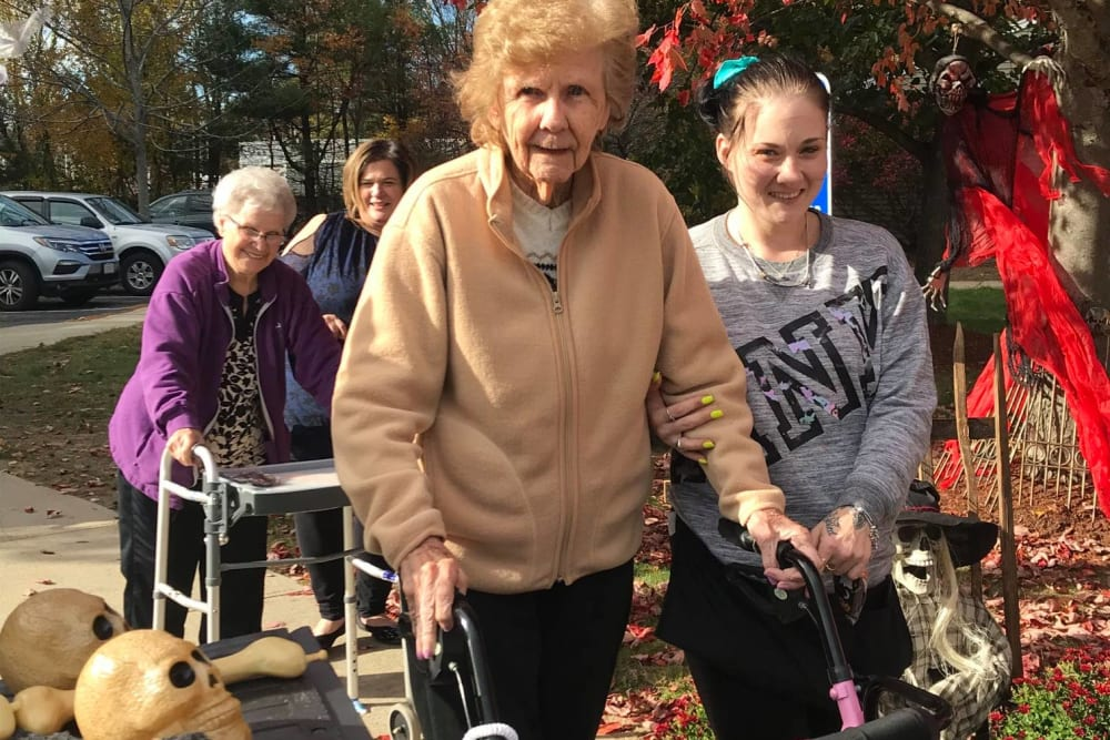 Residents enjoying Halloween at Wood Haven in Tewksbury, Massachusetts