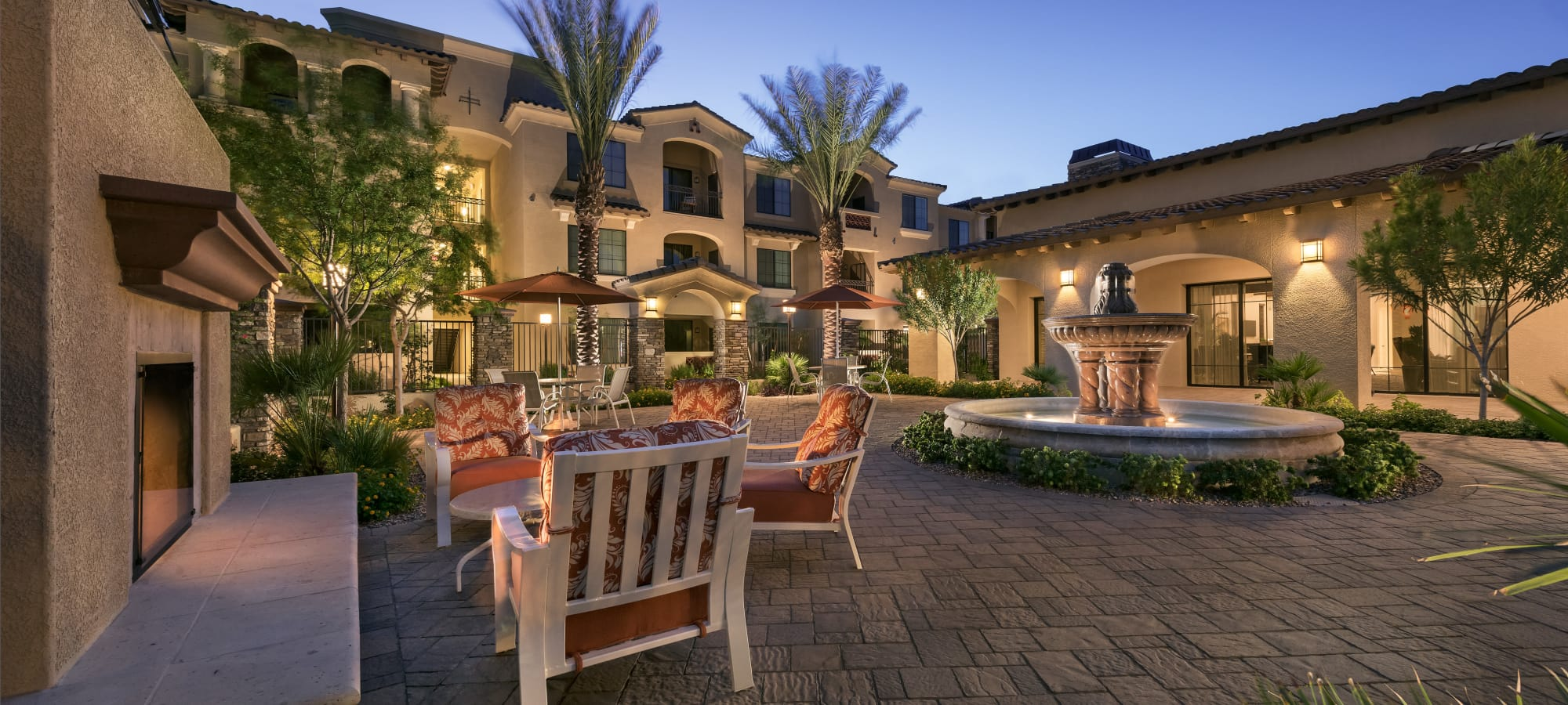 Fountain in the courtyard at San Milan in Phoenix, Arizona