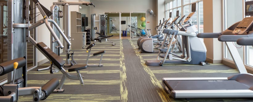 Fitness equipment at Altitude in Atlanta, GA