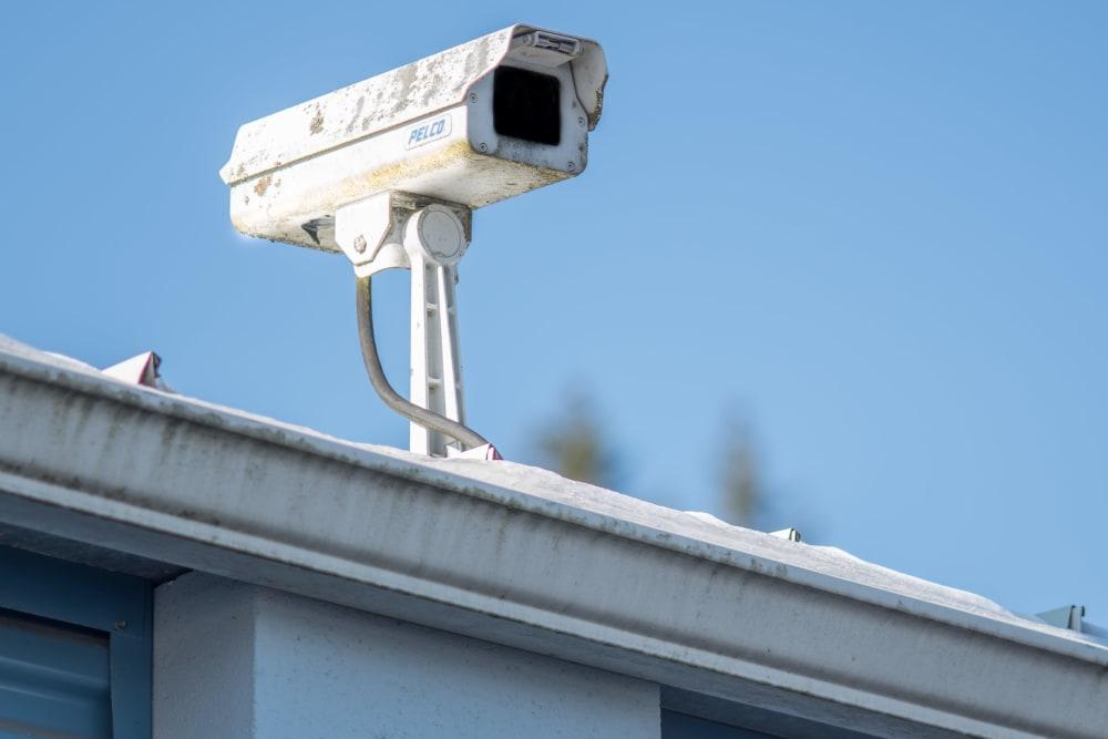 Security surveillance camera at Sound Storage in Port Orchard, Washington