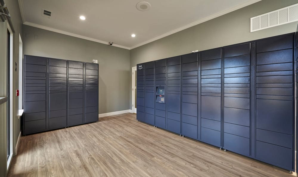 Package Lockers at Legend Oaks Apartments