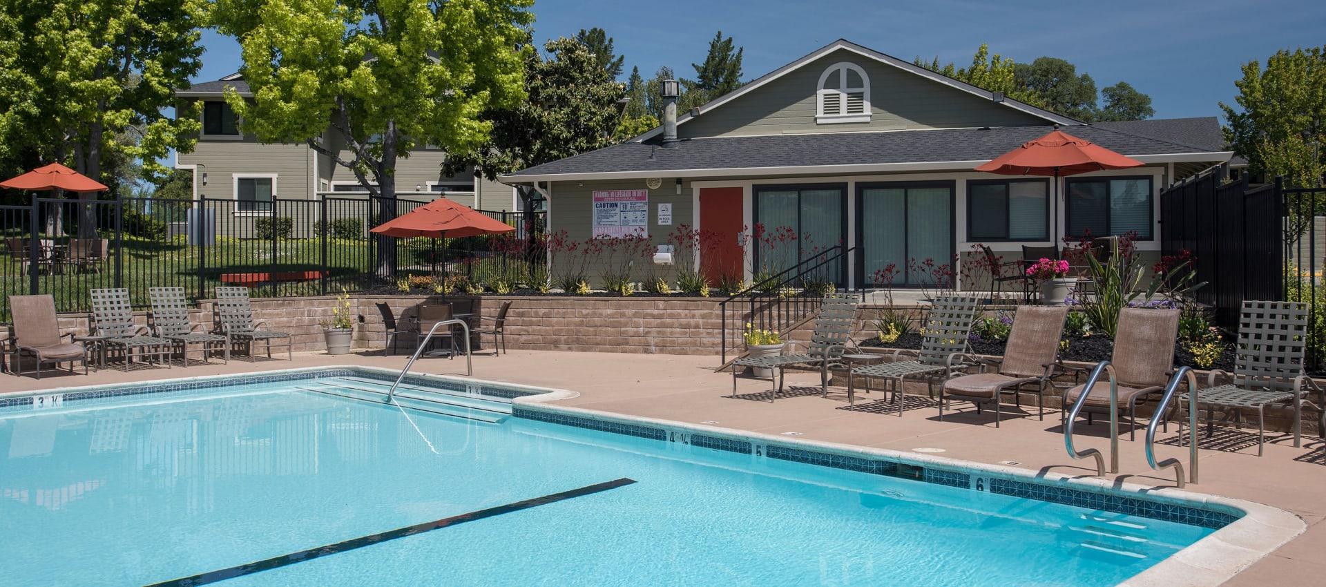 Large swimming pool at Ridgecrest Apartment Homes in Martinez, California