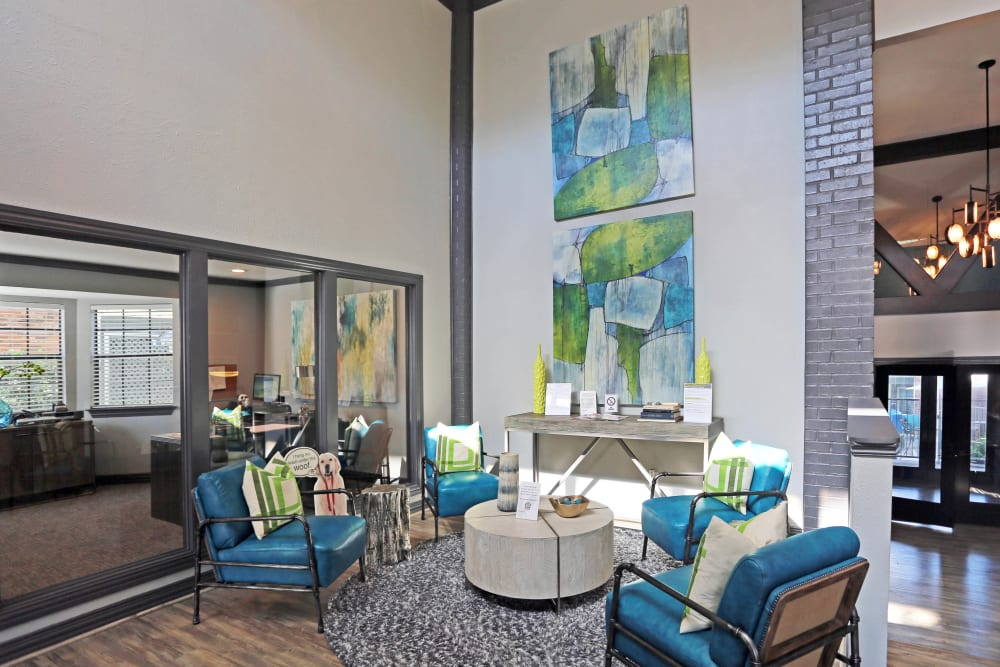 Clubhouse lounge at 1303 Main in Duncanville, Texas