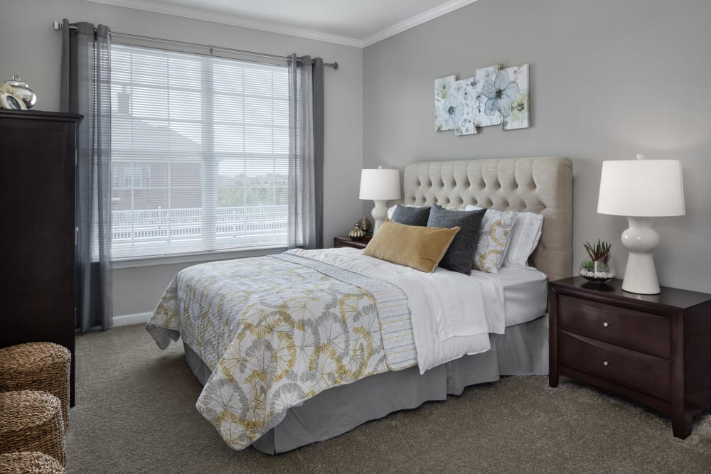 Bedroom at Waltonwood Lakeside in Sterling Heights, MI
