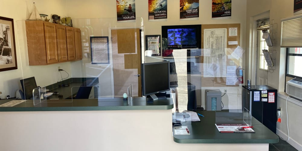 The leasing office at StorQuest Self Storage in Camarillo, California