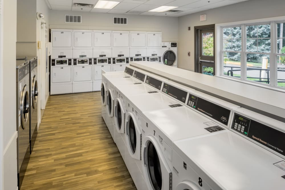 Lovely laundry facility at Greenwoods in Brockton, Massachusetts