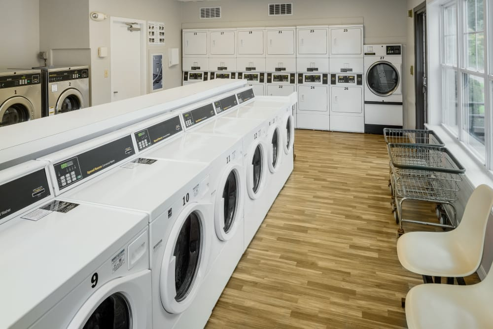 Onsite laundry facility at Greenwoods in Brockton, Massachusetts