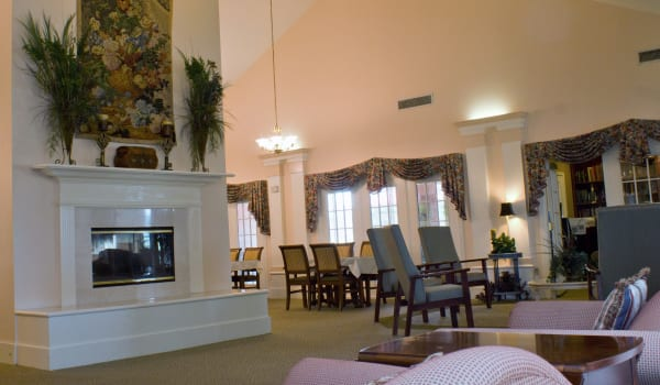 Shared Community living room at Azalea Estates of New Iberia in New Iberia, LA.