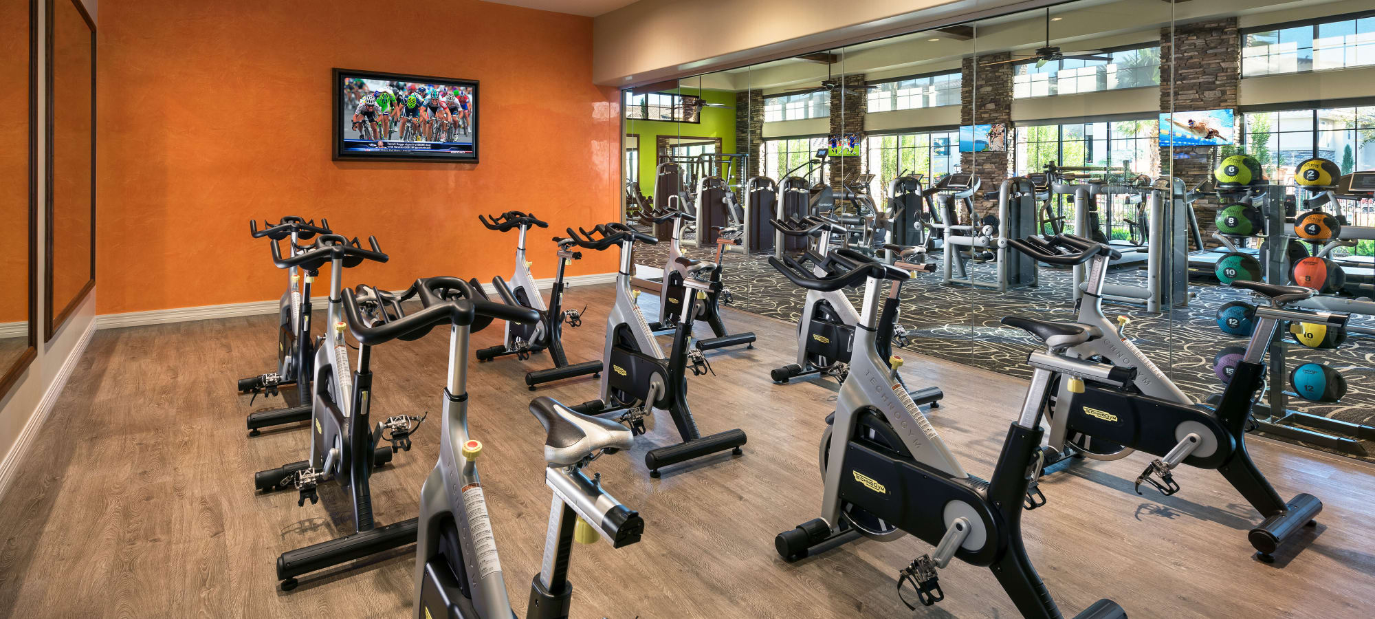 Well-equipped fitness center at San Travesia in Scottsdale, Arizona