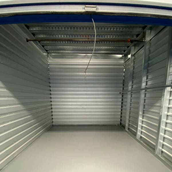 Indoor units with red doors at StorQuest Self Storage in Carson, California