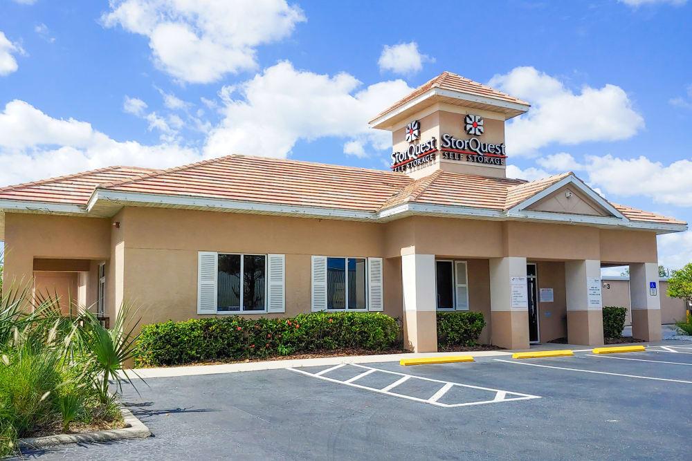 Leasing office exterior at StorQuest Self Storage in Sarasota, FL