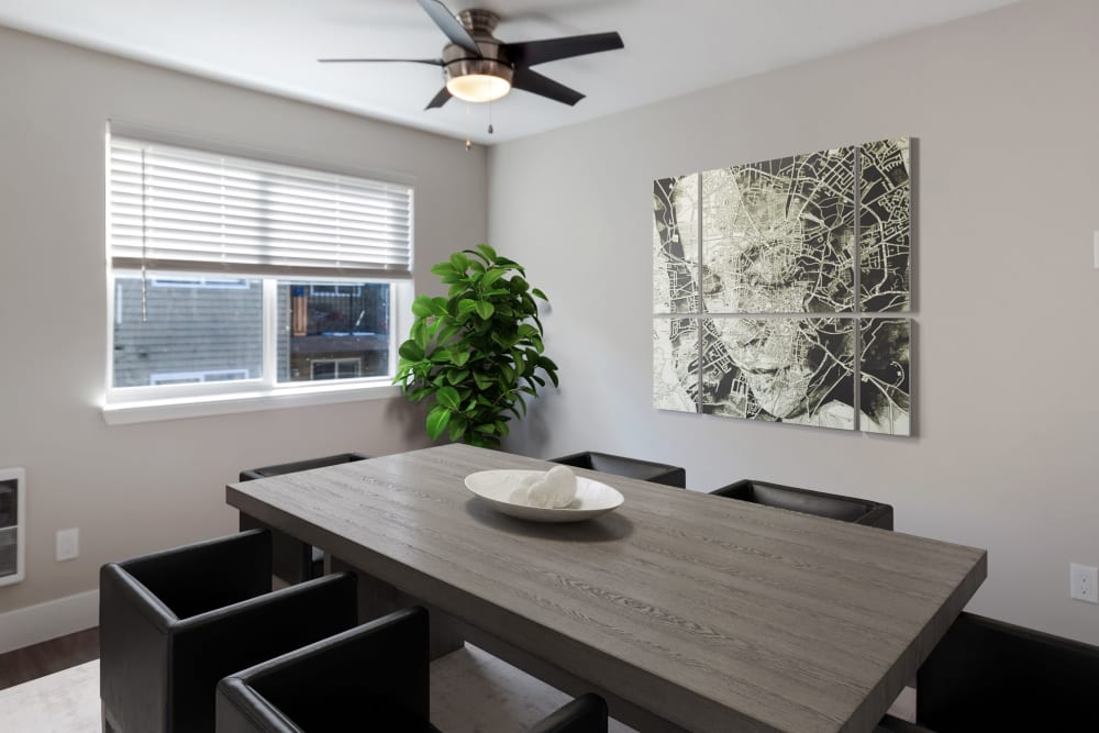 Dining room at Madison Park Apartments in Vancouver, Washington