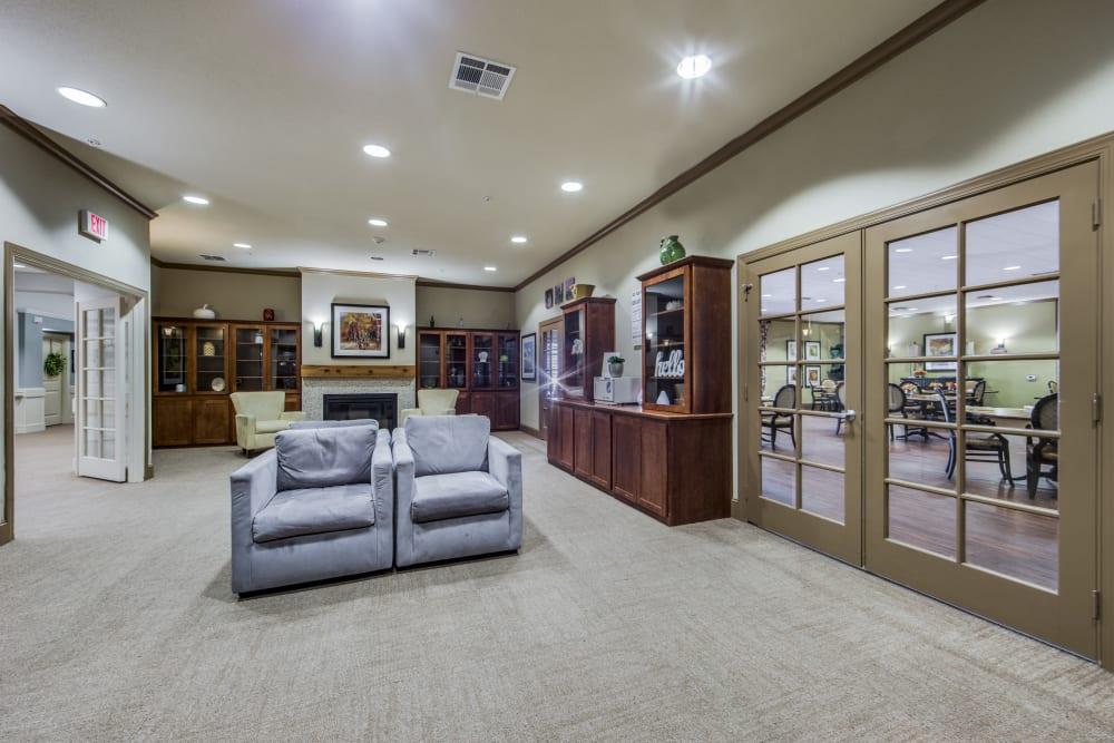 Lounge seating at The Landing at Stone Oak in San Antonio, Texas