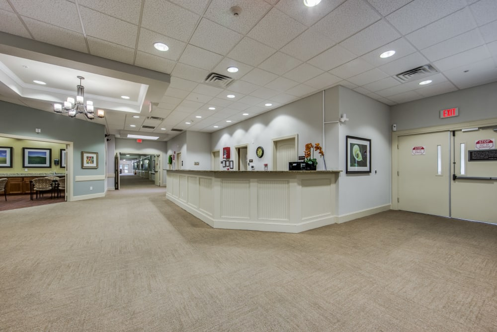 Reception area at The Landing at Stone Oak in San Antonio, Texas
