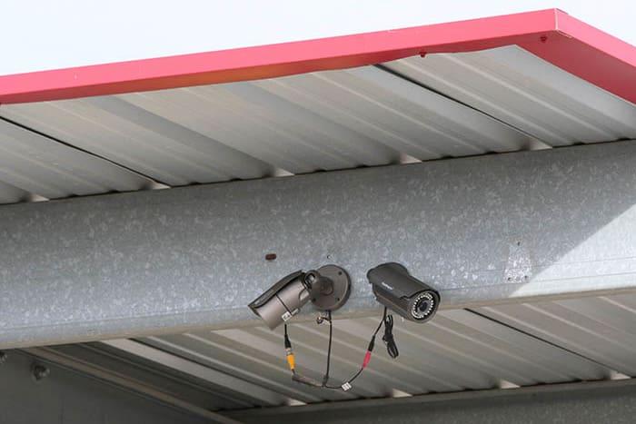Security cameras at Advantage Storage -  Stonebrook in Frisco, Texas