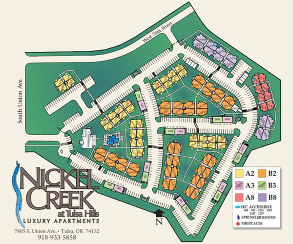 Site map for Nickel Creek Apartments in Tulsa, Oklahoma