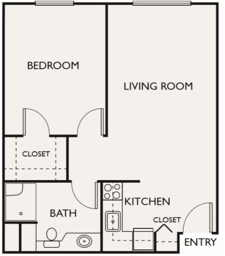 Assisted Living One Bedroom at Northgate Plaza in Seattle, Washington
