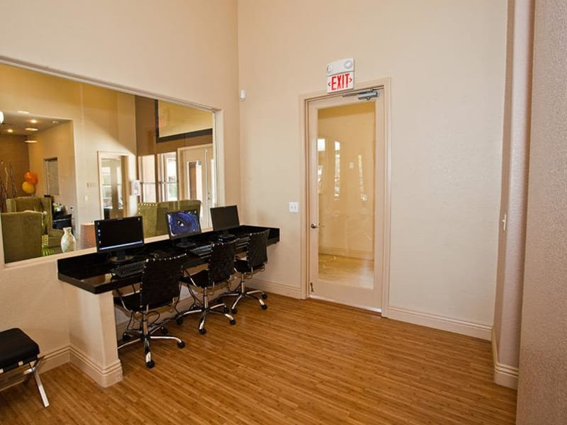 A convenient business center for residents at Monterra Apartment Homes