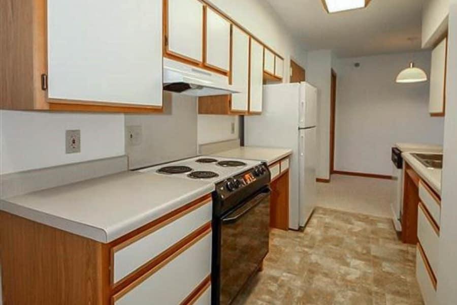 Model kitchen at Regency Heights in Iowa City, Iowa