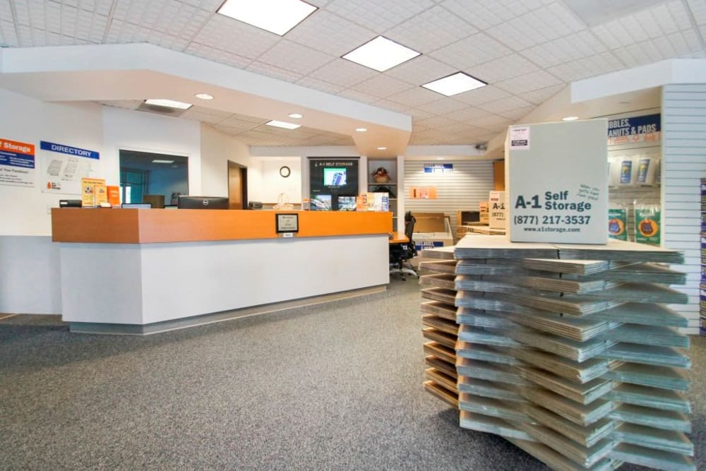 The office at A-1 Self Storage in Concord, California