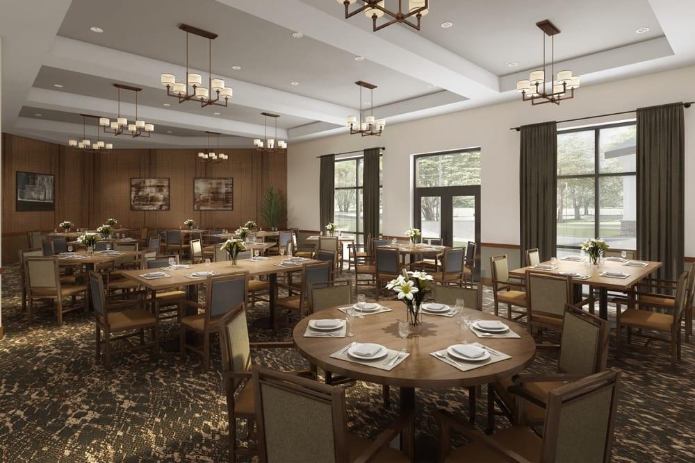 Elegant dining room at Anthology of Novi - OPENING 2020 in Novi, Michigan