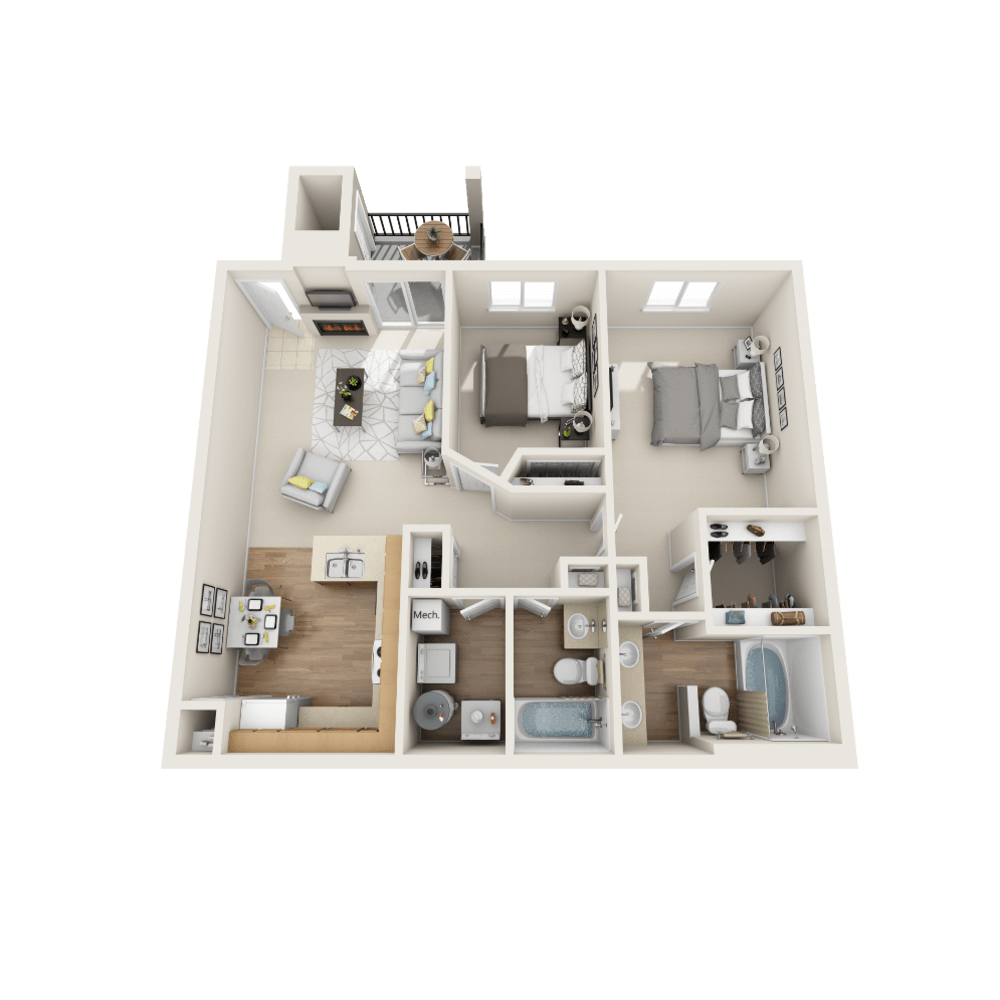 Delta floor plan at Vistas at Stony Creek Apartments