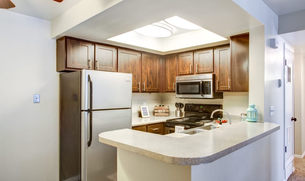 Updated kitchen at Royal Farms Apartments