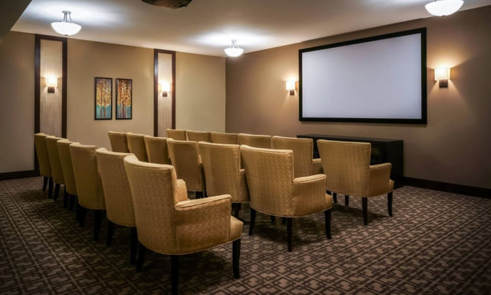 Movie theater at The Sanctuary at West St. Paul in West St. Paul, Minnesota