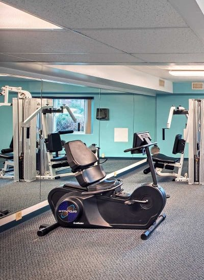 Fitness center at Avalon Arms Apartments in Avalon, Pennsylvania