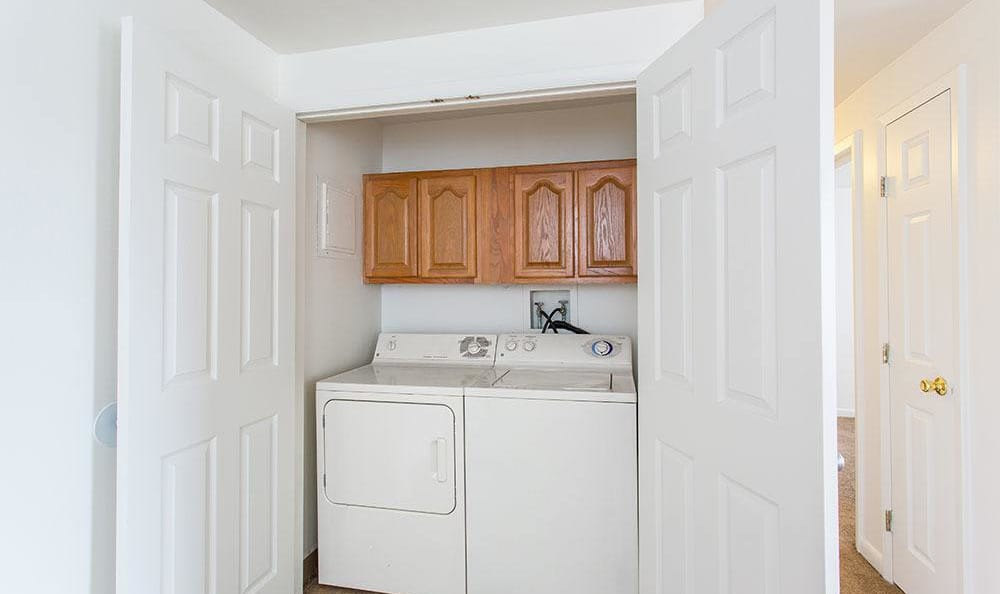 Washer and dryer at Riverton Knolls home in West Henrietta, NY