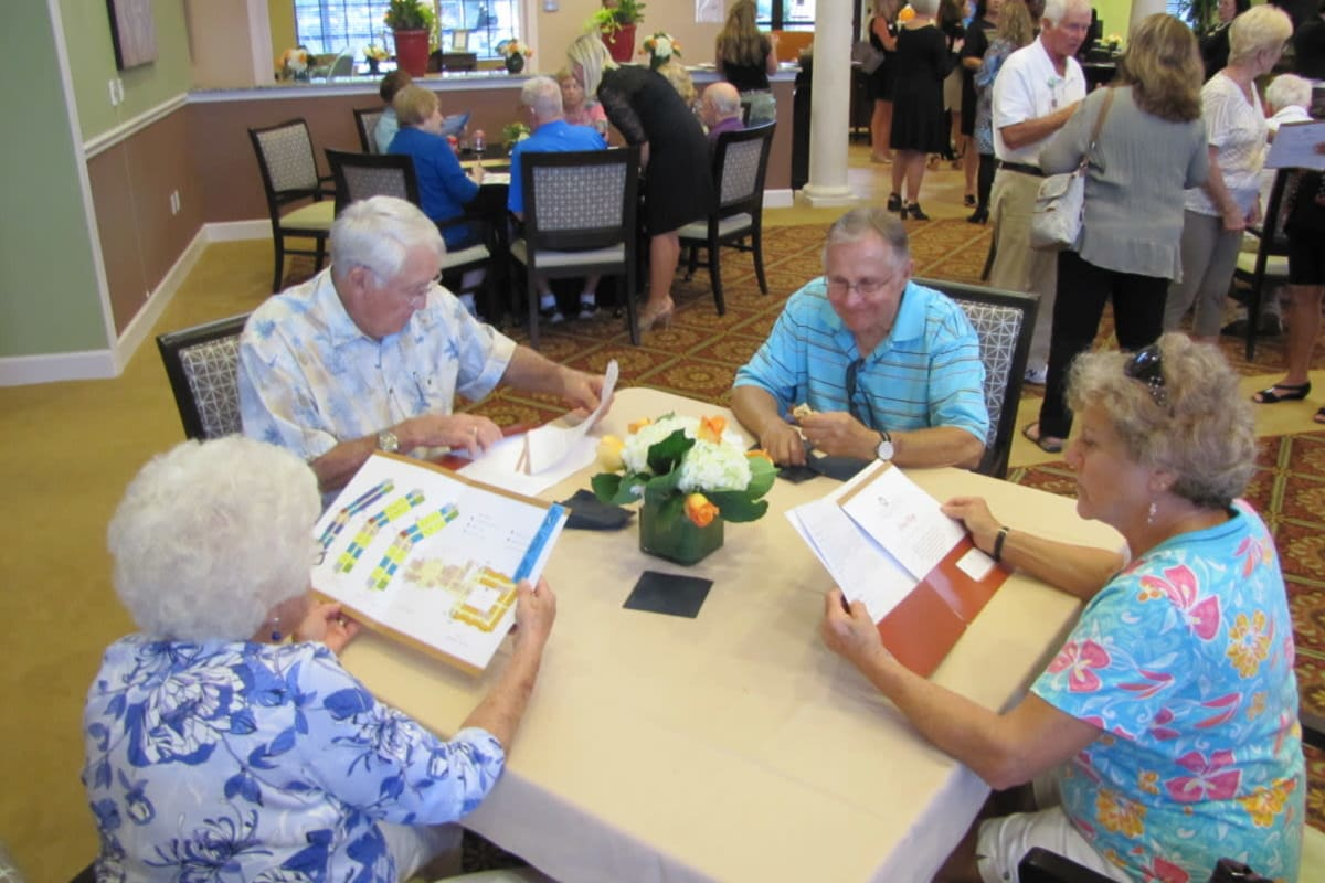 Residents learning about programs at Cypress Point in Fort Myers, Florida.