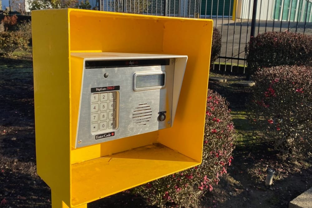 Keypad at A Storage Place in Mount Angel, Oregon
