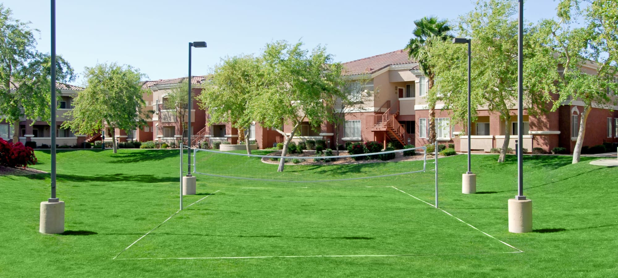 Badminton court in the lawn at Remington Ranch in Litchfield Park, Arizona