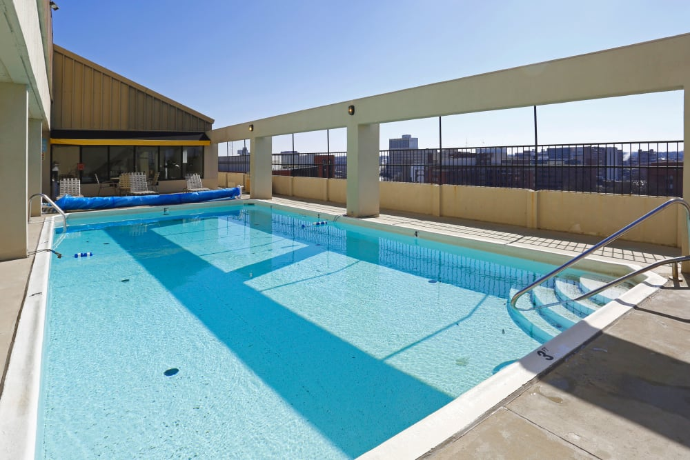 Swimming pool at Iris Apartments in Memphis, Tennessee