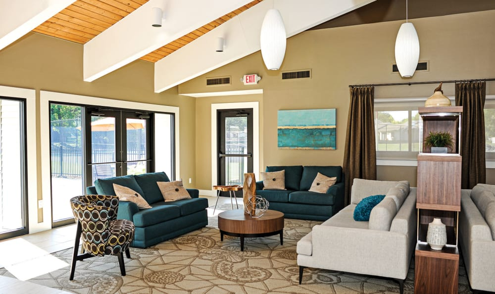 Penbrooke Meadows clubhouse interior in Penfield, NY